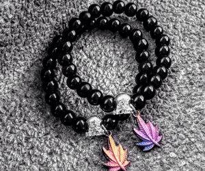 bracelet, cannabis, and diy image