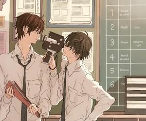 anime, school, and work image