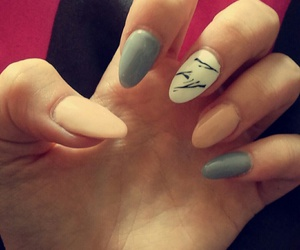 grey, nails, and Nude image