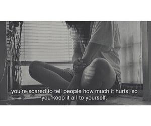 hurt, quote, and sad image