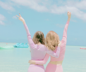 friends and pink image