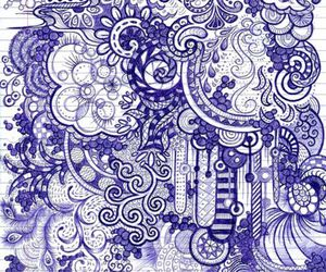 drawing, purple, and patterns image