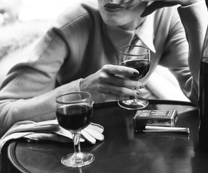 wine and black and white image