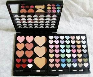 makeup, heart, and make up image