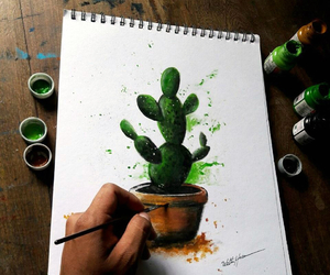 cactus, cactuses, and dibujo image