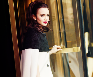 lily collins, beautiful, and girl image