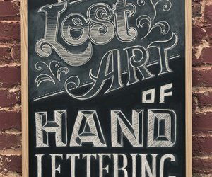 art, typography, and lettering image