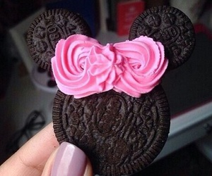 bow, chocolate, and cookie image