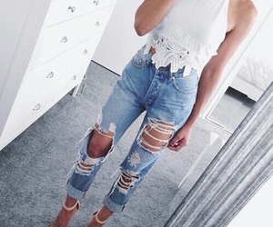 fashion, ripped, and style image
