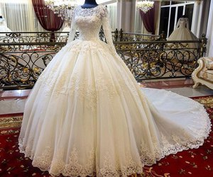 beauty, style, and wedding dresses image