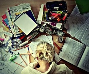 homework, school, and hate image
