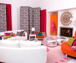 room, living room, and pink image