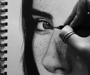 artist, beauty, and drawing image