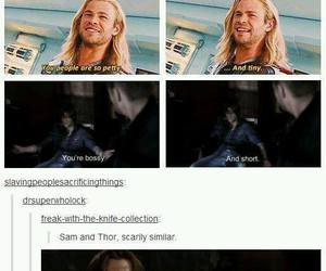 thor, supernatural, and funny image