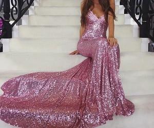 dress, pink, and glitter image