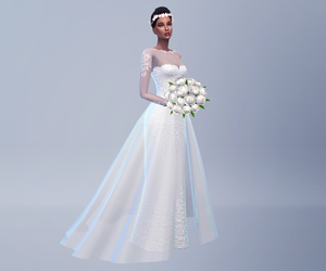 wedding dress, outfits, and the sims image