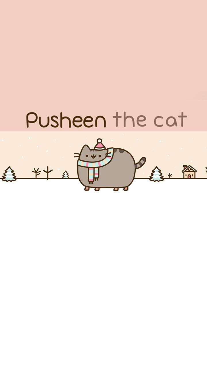 Pusheen Cat Art Background Beautiful Beauty Cartoon Cats