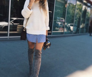 girl, nails, and outfit image