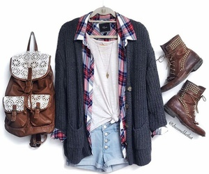backpack, clothes, and hipster image