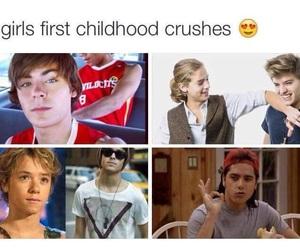 crush, zac efron, and childhood image