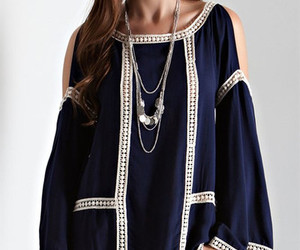 blouse, peasant, and coldshoulder image