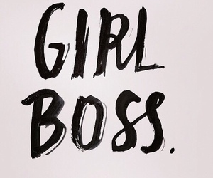 girl, boss, and quote image