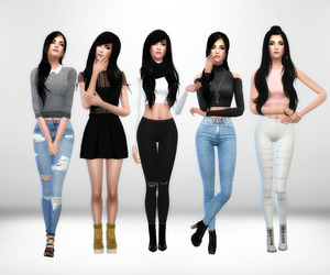fashion, outfits, and the sims image