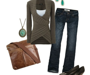 jeans, sweater, and love it image