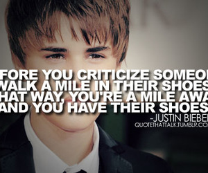 quote, justin bieber, and walk image