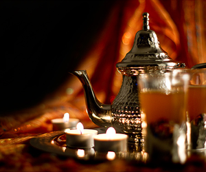 candles, curtain, and morocco image