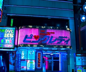 japan, city, and neon image