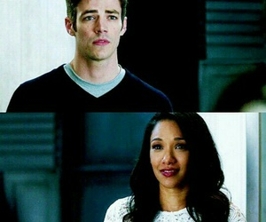 barry allen, grant gustin, and iris west image