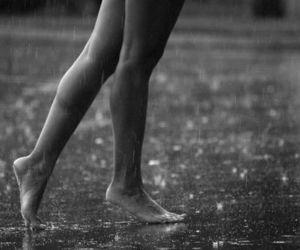 rain, legs, and dance image