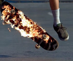 fire and skate image
