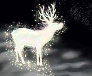 deer, christmas, and light image