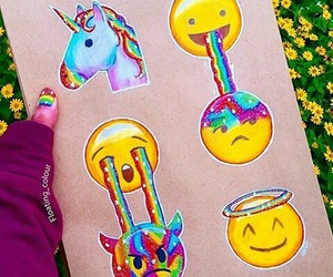 emoji, unicorn, and art image