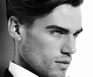 black and white, handsome, and boy image