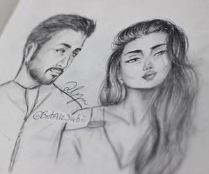 art, arabic cartoon, and love image