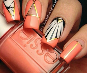 nail art, essie, and nails image