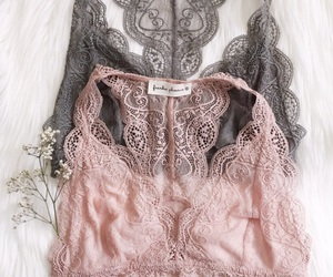 lace, fashion, and bra image