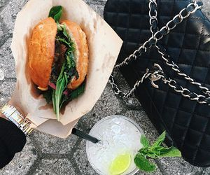 burger, fashion, and black image