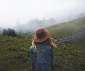 adventure, woman, and hat image