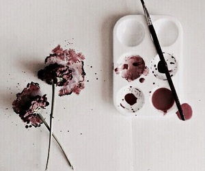 art, flowers, and paint image