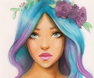 blue, draw, and drawing image
