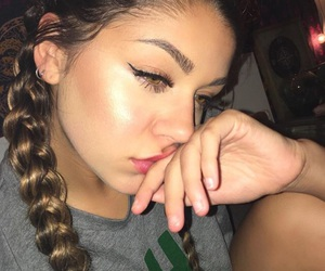 girl, makeup, and andrea russett image