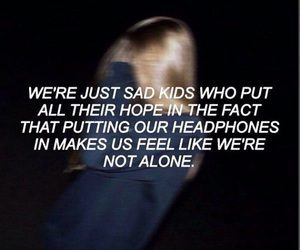 quote, sad, and feelings image