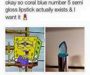 spongebob, funny, and lipstick image