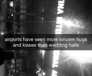 airports, couple, and kisses image