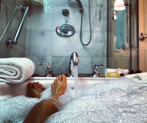 bath, relax, and bubbles image