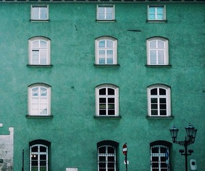 green, house, and architecture image